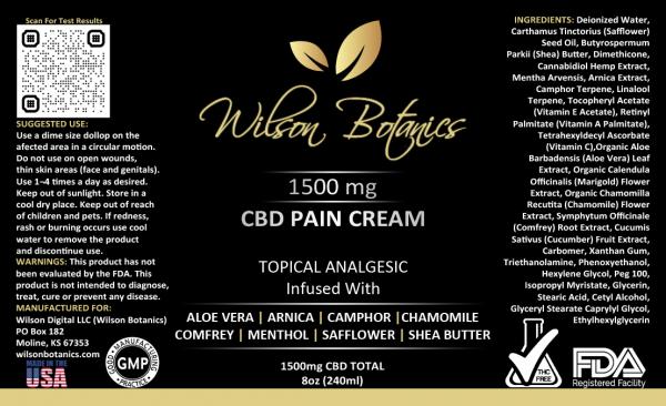 Label-1500 CBD Pain Cream